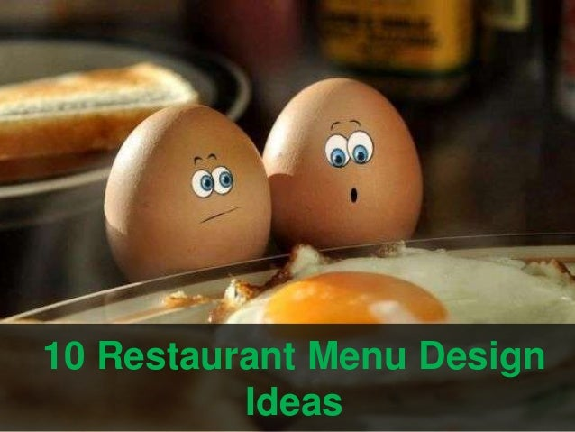 10 restaurant menu design ideas
