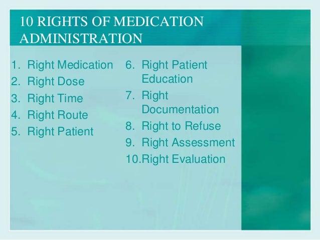 rights of medication administration essay