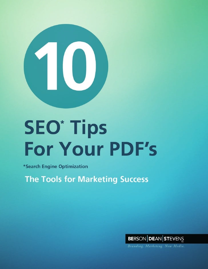 10 SEO Tips for Your PDFs