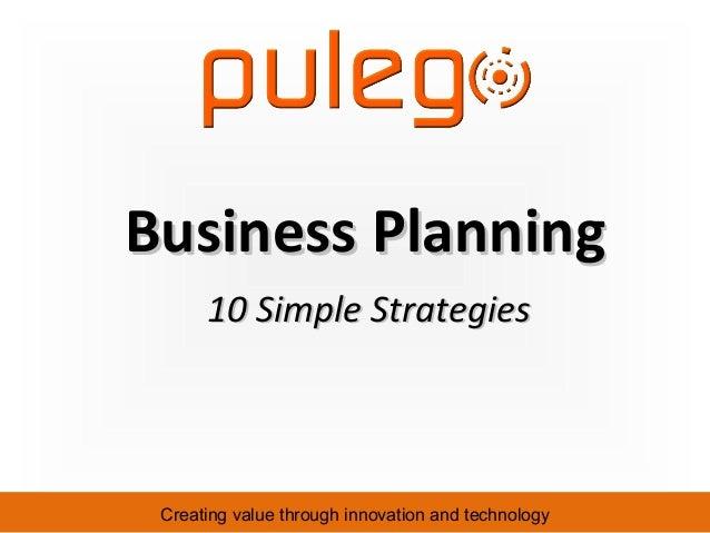 10 Simple Business Planning Strategies