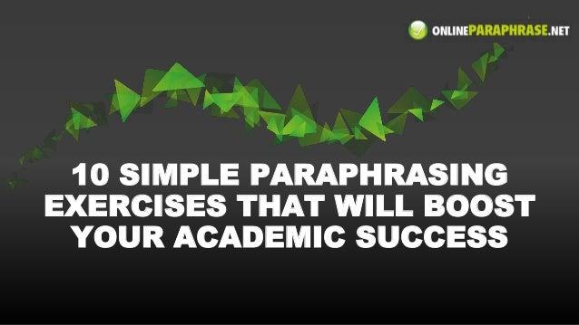 Avoiding Plagiarism - Paraphrasing