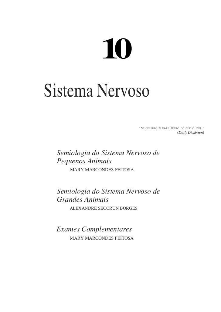 """10Sistema Nervoso                                O CÉREBRO É MAIS AMPLO DO QUE O CÉU.""""                                    ..."""