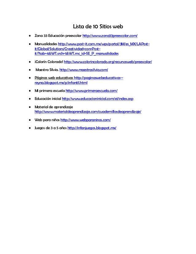 10 sitio web y la lista de cotejo (1)