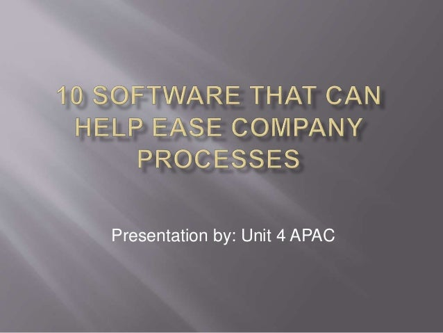 10 software that can help ease company processes