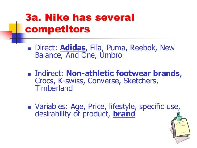 competative analysis puma reebok adidas and nike Analyzing the prices of puma and comparing with its competitor prices was  discovered, that all of them are more or less on the same price levels – medium  to.