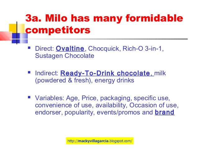 milo philippines marketing plan A marketing plan is a strategy that articulates key philippines south while there are various types of marketing plans, at the minimum a plan should.