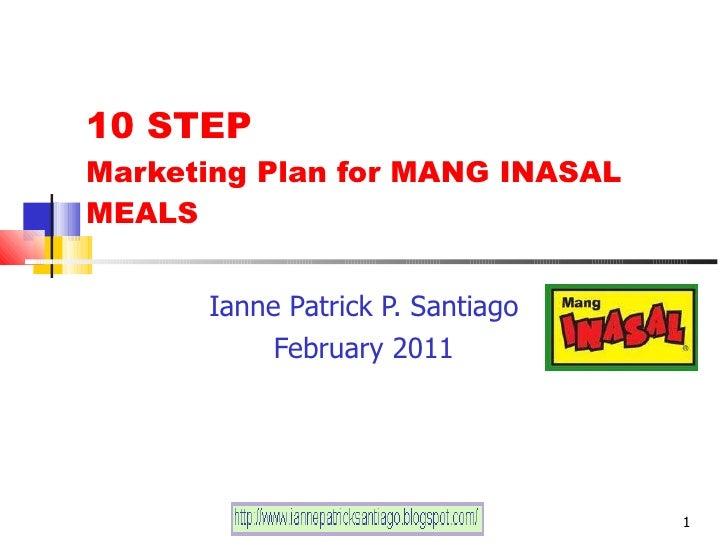 10 step marketing plan for mang inasal ianne patrick santiago