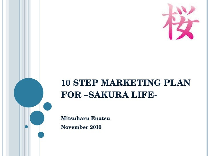10 step marketing plan for sakura life - ENATSU