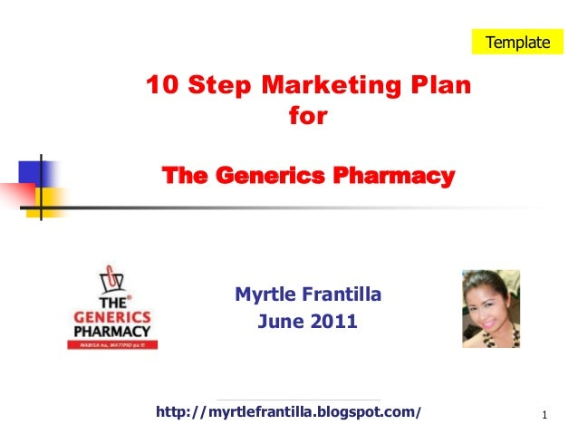 10 step marketing plan for the generics pharmacy