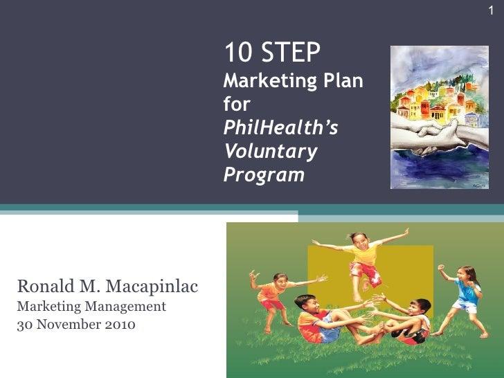 10 STEP  Marketing Plan for  PhilHealth's Voluntary Program Ronald M. Macapinlac Marketing Management 30 November 2010