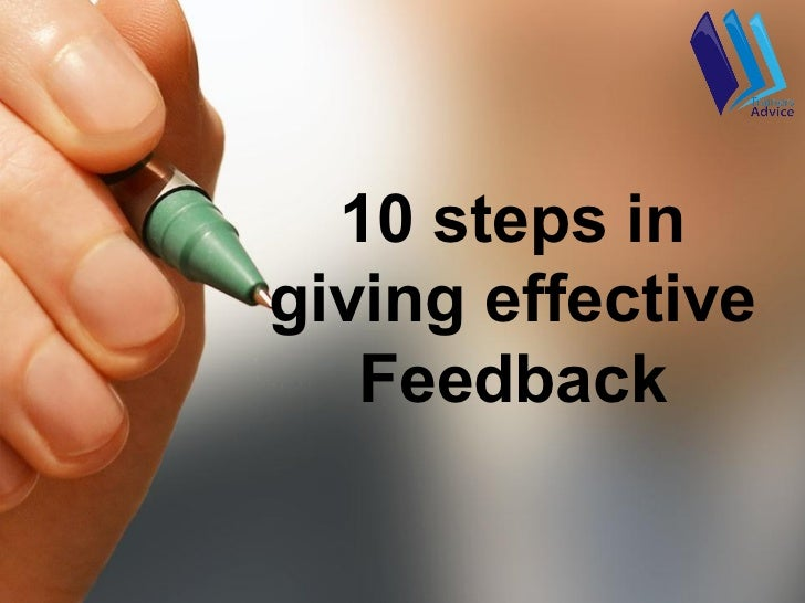 10 steps ingiving effective   Feedback