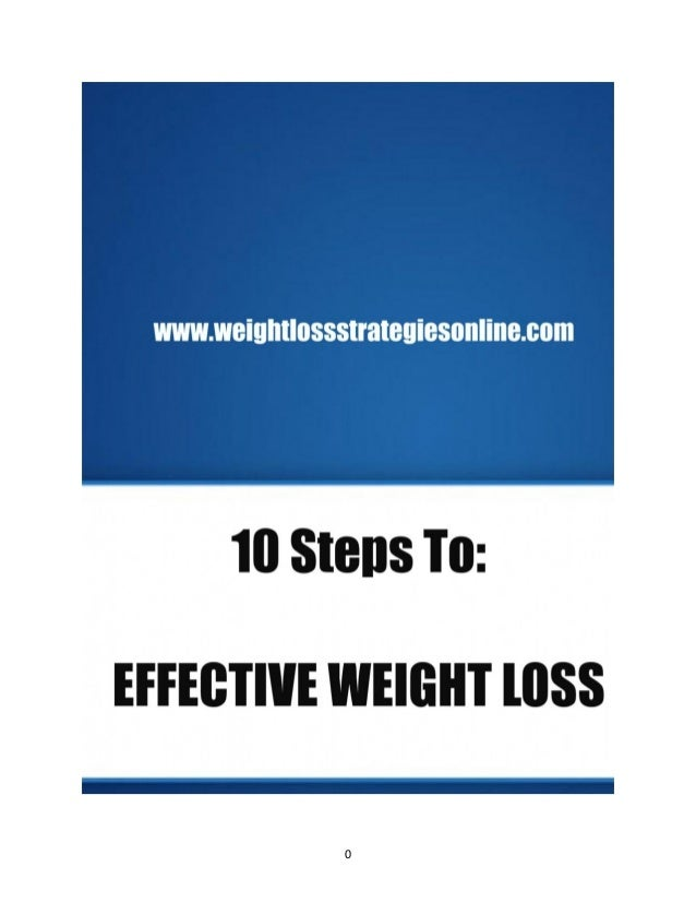 10 steps to effective weight loss