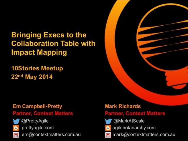 Em Campbell-Pretty Partner, Context Matters @PrettyAgile prettyagile.com em@contextmatters.com.au Mark Richards Partner, C...