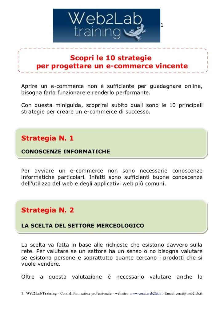 10 strategie per progettare un e commerce
