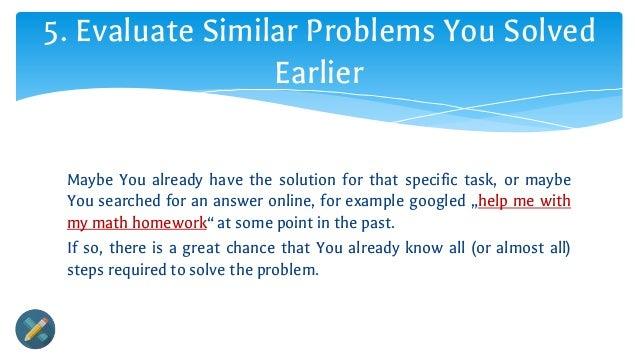 Write my math homework problems