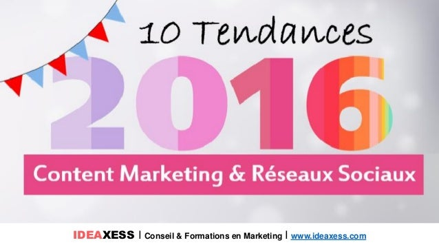 IDEAXESS I Conseil & Formations en Marketing I www.ideaxess.com