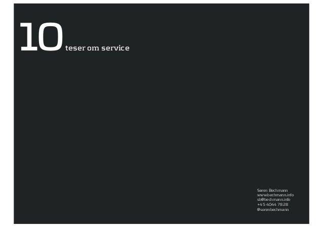 10   teser om service                        Søren Bechmann                        www.bechmann.info                      ...