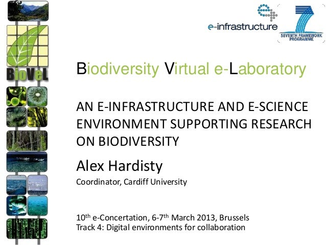 Biodiversity Virtual e-LaboratoryAN E-INFRASTRUCTURE AND E-SCIENCEENVIRONMENT SUPPORTING RESEARCHON BIODIVERSITYAlex Hardi...
