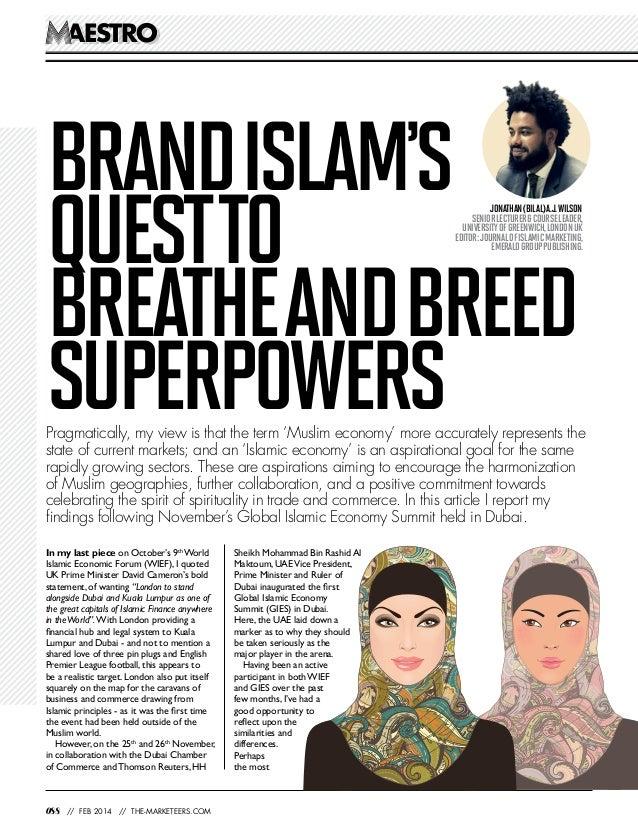 Muslim Economies, Islamic Economies and Brand Islam