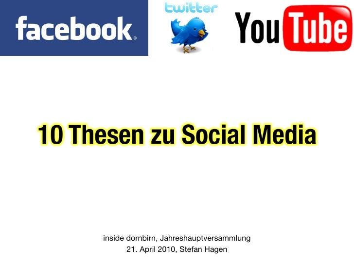 10 Thesen zu Social Media
