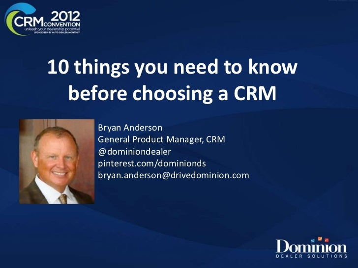 10 things crm slide share version