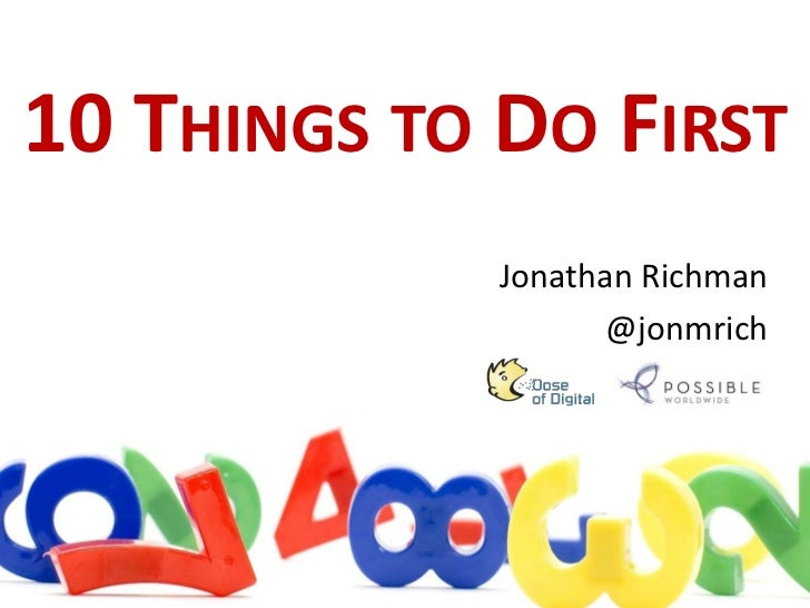 10 Things to Do First in Digital Marketing