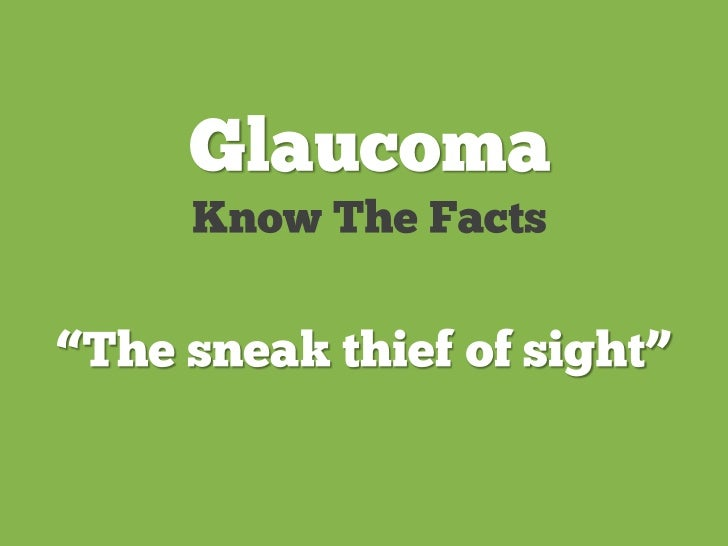 10 things you need to know about glaucoma