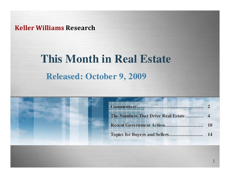 10 This Month In Real Estate October2009 Pwd