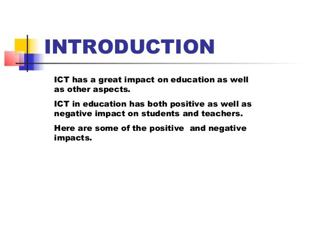 impact of ict on the community essay The future of technology and its impact on our lives black and green is a call to action for the black community to join the green movement.