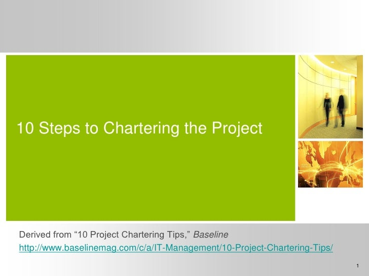 10 tips for Chartering a Project