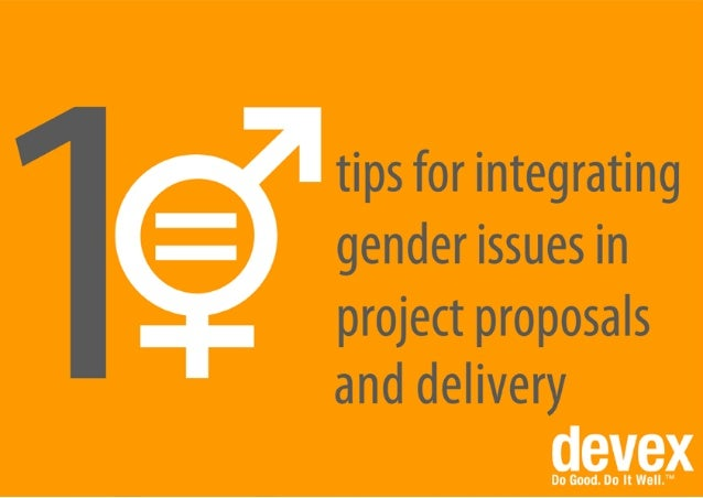 10 tips for integrating gender issues in project proposals and delivery