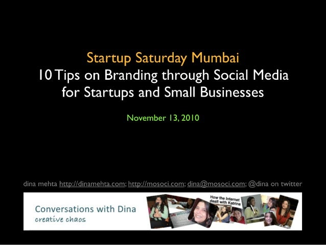 10 tips on branding through social media  for startups and small businesses