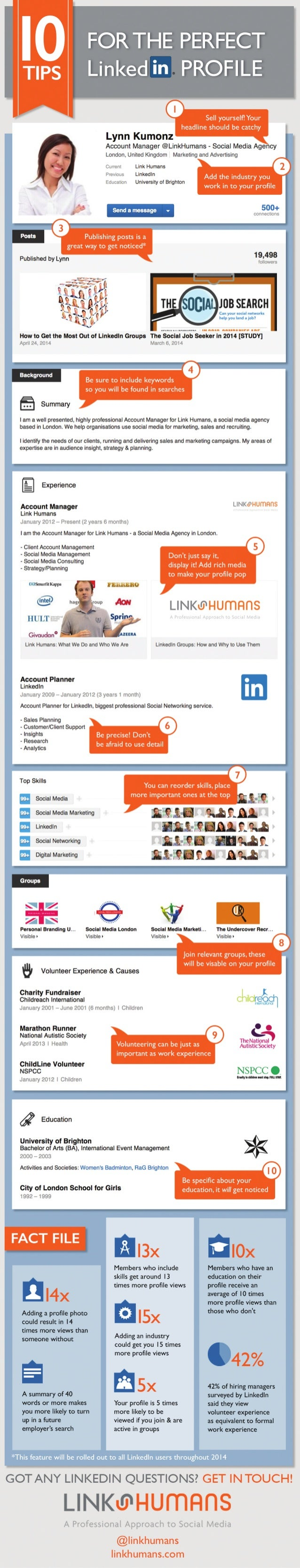 10 Tips for the Perfect LinkedIn Profile