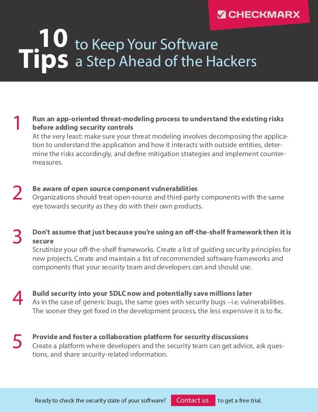 10 Tips to Keep Your Software a Step Ahead of the Hackers