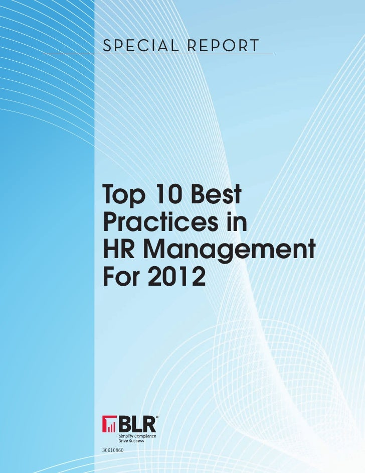 10 Top HR Practices For 2012