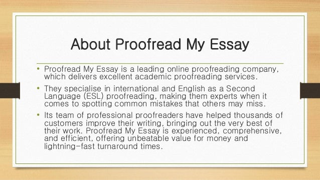 Proofread my essay online