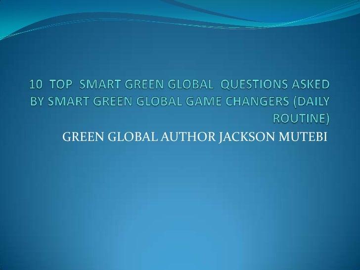GREEN GLOBAL AUTHOR JACKSON MUTEBI