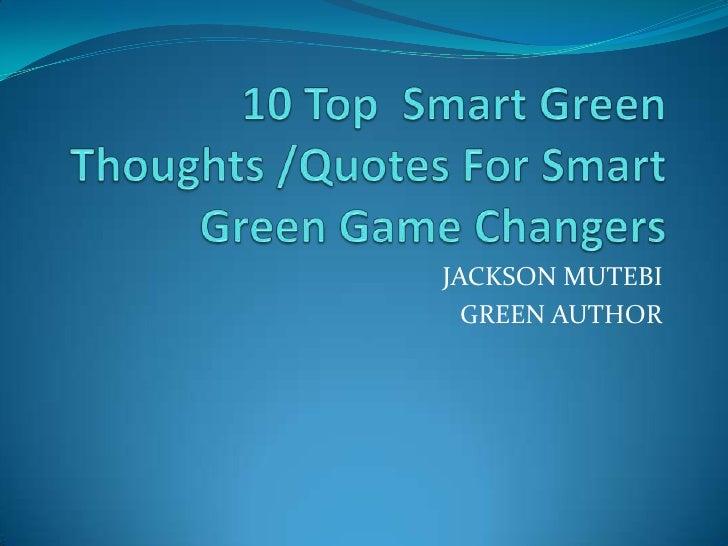 JACKSON MUTEBI  GREEN AUTHOR