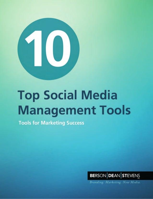 10 Top Social Media Management Tools