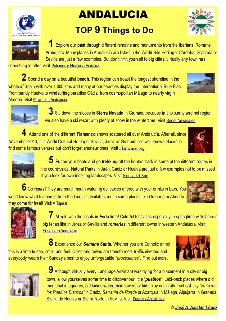 ANDALUCIA                                       TOP 9 Things to Do                       1 Explore our past through differ...