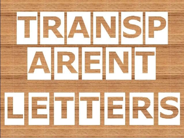 Power Point Templates - 10 transparent letters