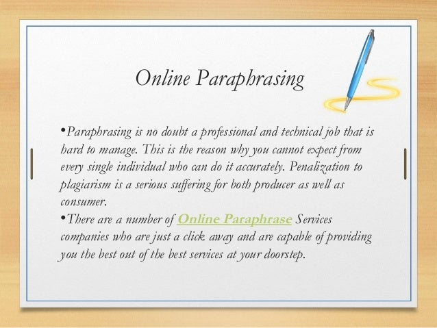 Need Help with Paraphrasing?