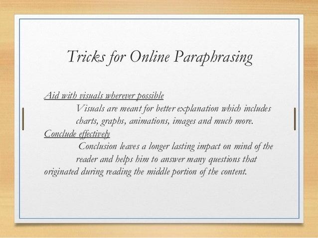 Online paraphrasing
