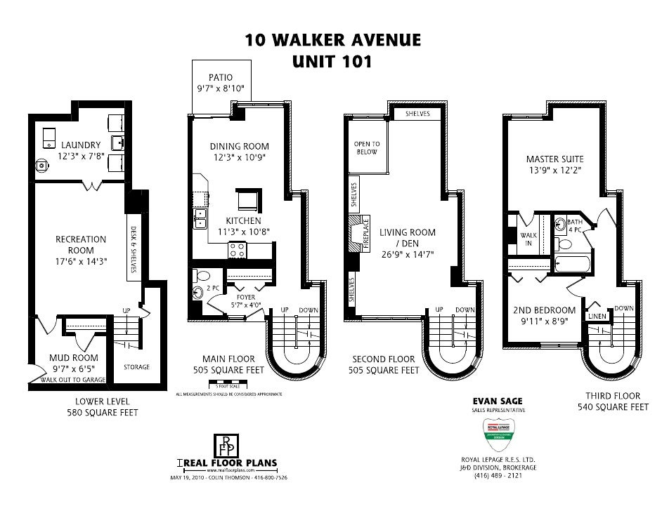 Spectacular Prime Summerhill Townhouse - 10 Walker Ave. Suite 101, Toronto