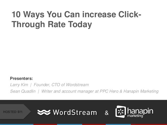 10 Ways You Can increase your PPC CTR