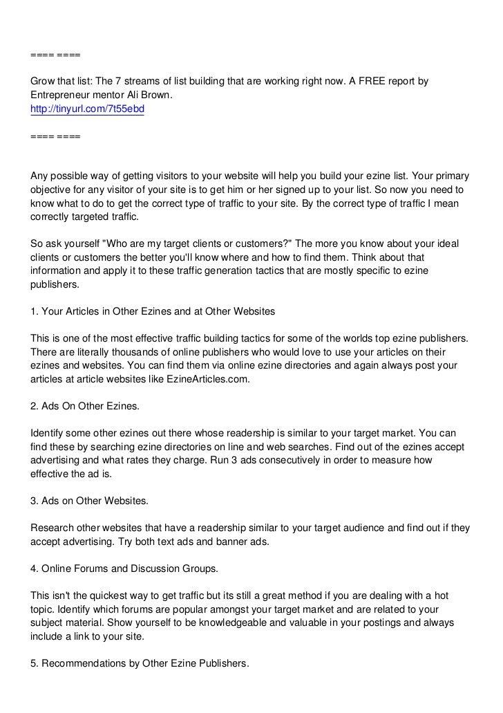 10 ways to boost your ezine list