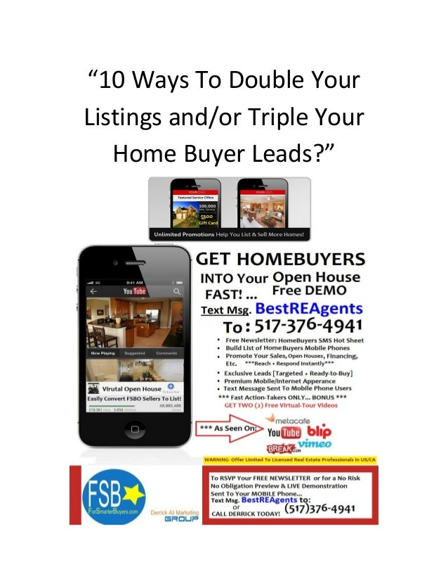 10 Ways to Double Your Listings And Triple Your Real Estate Income 2013