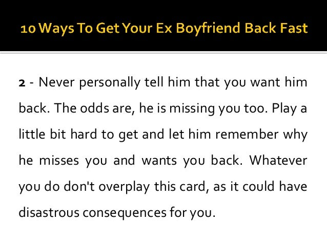 How To Know If My Ex Girlfriend Wants Me Back