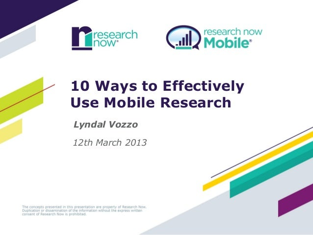 10 Ways to Effectively Use Mobile Research