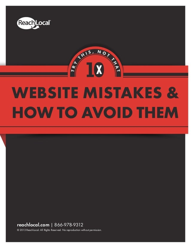 10 Website Mistakes and How to Avoid Them
